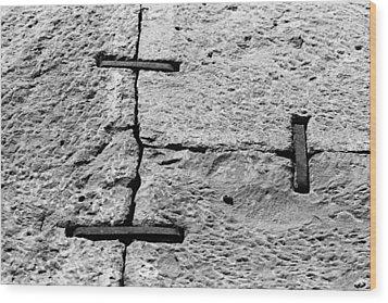 Stone Wall Support Wood Print by Jagdish Agarwal