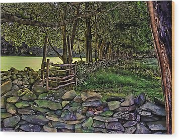 Stone Walled Wood Print
