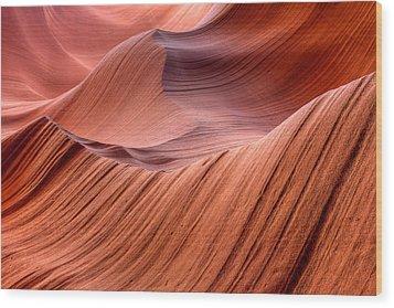 Stone Waves Wood Print by Kiril Kirkov