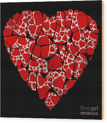 Stoned In Love Wood Print by Barbara Chichester