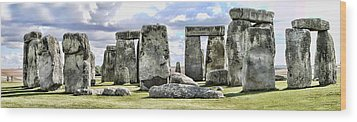 Stonehenge Wood Print by Gordon Engebretson