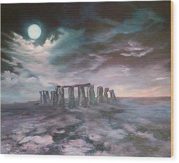 Stonehenge In Wiltshire Wood Print