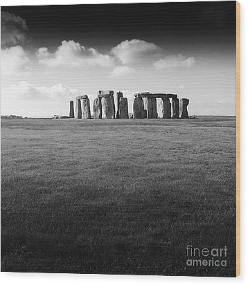Stonehenge Wood Print by Michael Canning