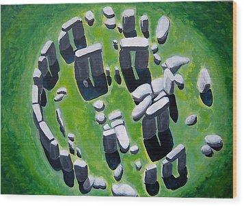 Stonehenge Wood Print by Mitchell McClenney