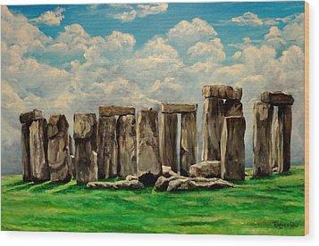 Stonehenge Wood Print by Ruanna Sion Shadd a'Dann'l Yoder