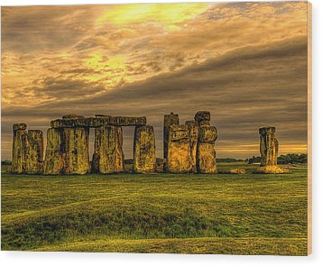 Stonehenge Wood Print by Svetlana Sewell