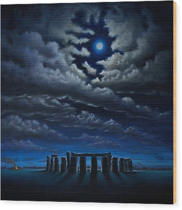 Stonehenge - The People's Circle Wood Print