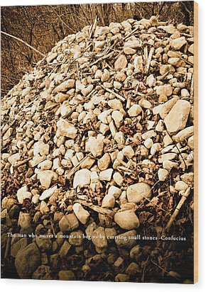 Stones Wood Print by BandC  Photography