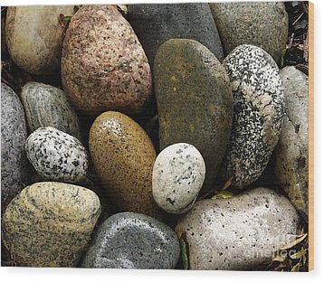 Wood Print featuring the photograph Stones by Carol Sweetwood