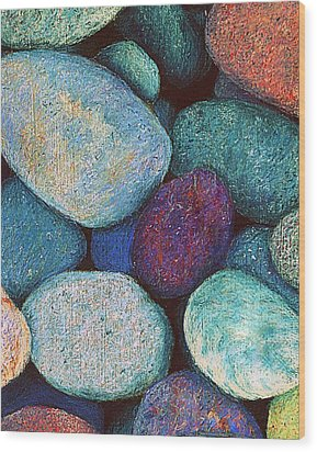 Stones In Pastel Wood Print by Antonia Citrino
