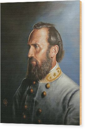 Wood Print featuring the painting Stonewall Jackson by Glenn Beasley