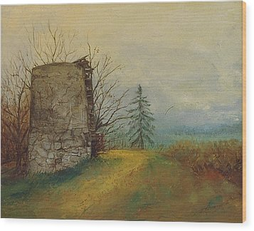 Stoney Silence Wood Print by Sherri Anderson