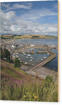 Stonhaven Harbour  Scotland Wood Print