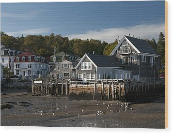 Wood Print featuring the photograph Stonington Harbor by Paul Miller