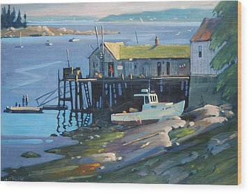 Stonington Maine Wood Print