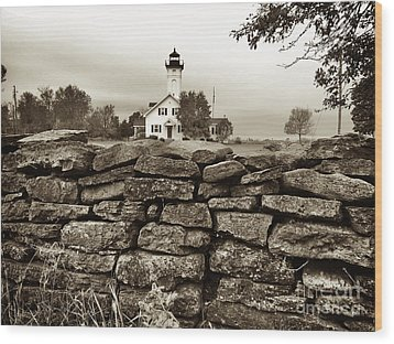 Stony Point Lighthouse Wood Print by Tony Cooper