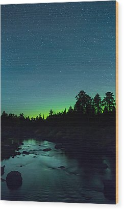 Stony River Stars Wood Print by Adam Pender