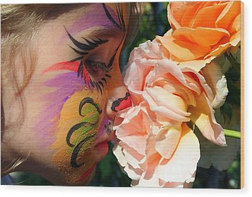 Wood Print featuring the photograph Stop And Smell The Roses by Debra Kaye McKrill