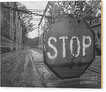 Wood Print featuring the photograph Stop Sign by Michael Krek