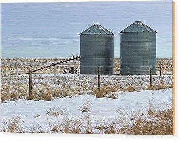 Storage Bins On The Prairie Wood Print