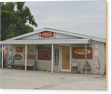 Store Front Of Days Past Wood Print by Terry Scrivner