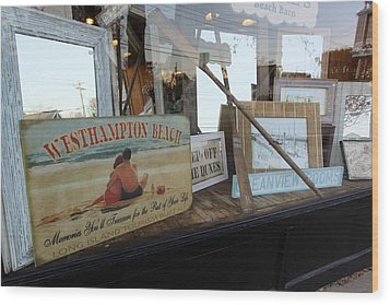 Store Front Westhampton New York Wood Print