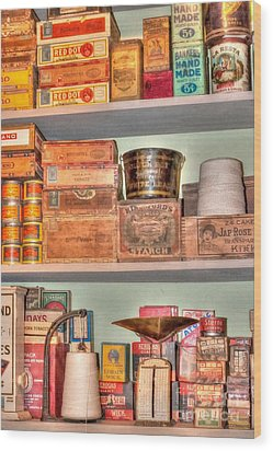 Store - General Store Wood Print by Liane Wright