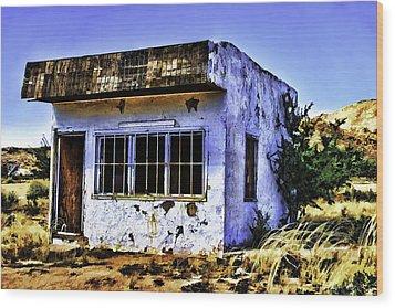Wood Print featuring the painting Store by Muhie Kanawati