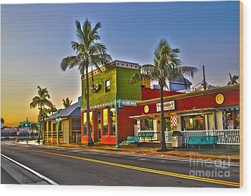Store On Fort Myers Beach Florida Wood Print