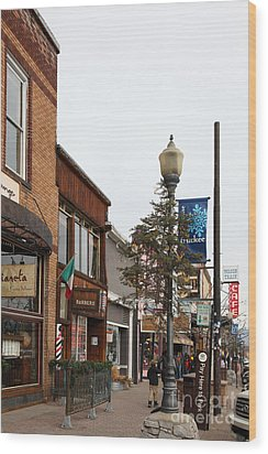 Storefront Shops In Truckee California 5d27490 Wood Print by Wingsdomain Art and Photography