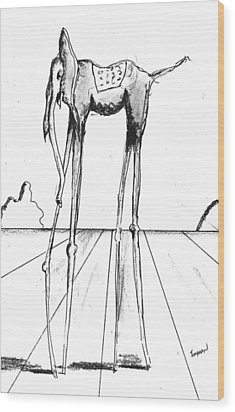 Stork Legs Wood Print by Dan Twyman