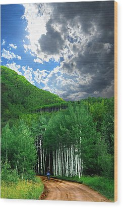 Storm Above Pennock Pass Colorado Wood Print by Ric Soulen