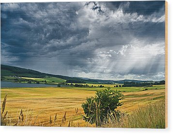 Storm And Sunbeams Wood Print