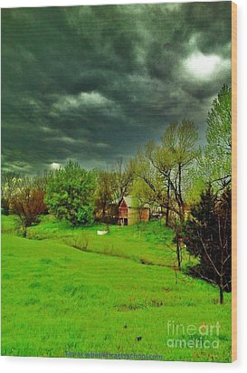 Storm Anticipation Wood Print by PainterArtist FIN
