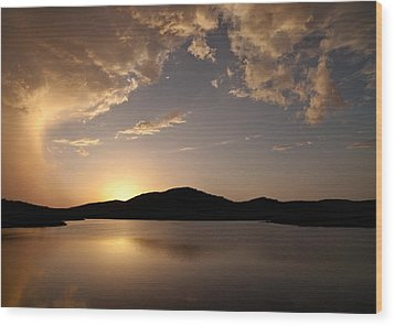 Storm Approaching At Sunset - Wichita Mountains Wood Print