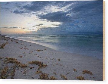 Storm Approaching Miami Wood Print by Matt Tilghman