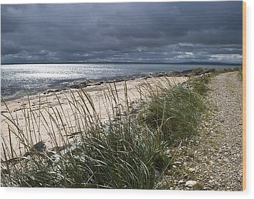 Wood Print featuring the photograph Storm Arising Dornoch Beach Scotland by Sally Ross