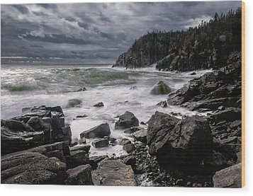 Storm At Gulliver's Hole Wood Print by Marty Saccone