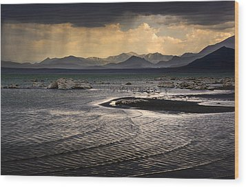 Storm At Mono Lake Wood Print
