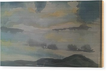Storm Bay Wood Print by Judi Goodwin