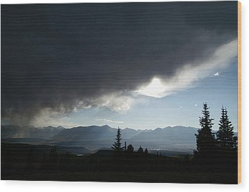 Storm Blows Over Wood Print by Jeremy Rhoades