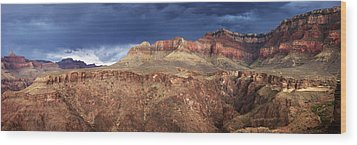 Storm Brewing In The Canyon Wood Print