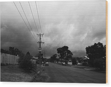 Wood Print featuring the photograph Storm Closing In  by Naomi Burgess