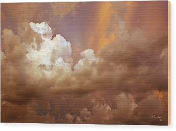 Storm Clouds Wood Print by Andrea Kelley