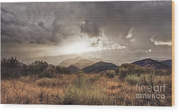 Storm Clouds Wood Print by Dianne Phelps