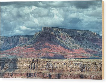 Storm Clouds Over Grand Canyon Wood Print by Donna Doherty