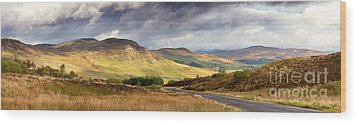 Storm Clouds Over The Glen Wood Print by Jane Rix