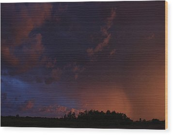 Wood Print featuring the photograph Storm Clouds Over Yorkton IIi by Ryan Crouse