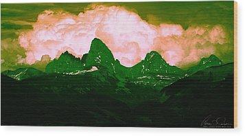 Storm Coming Wood Print by Aaron Carper