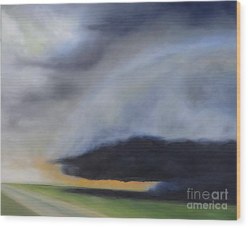 Wood Print featuring the painting Storm Coming.. by Barbara Anna Knauf